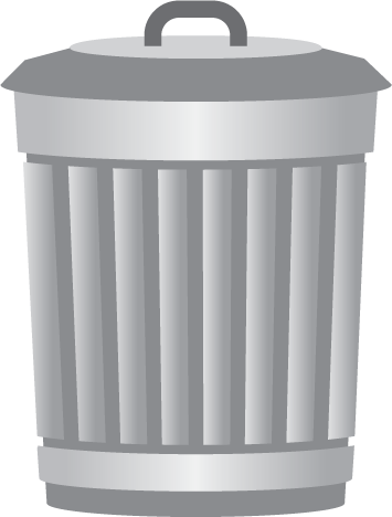 Transparent background clipart trash can
