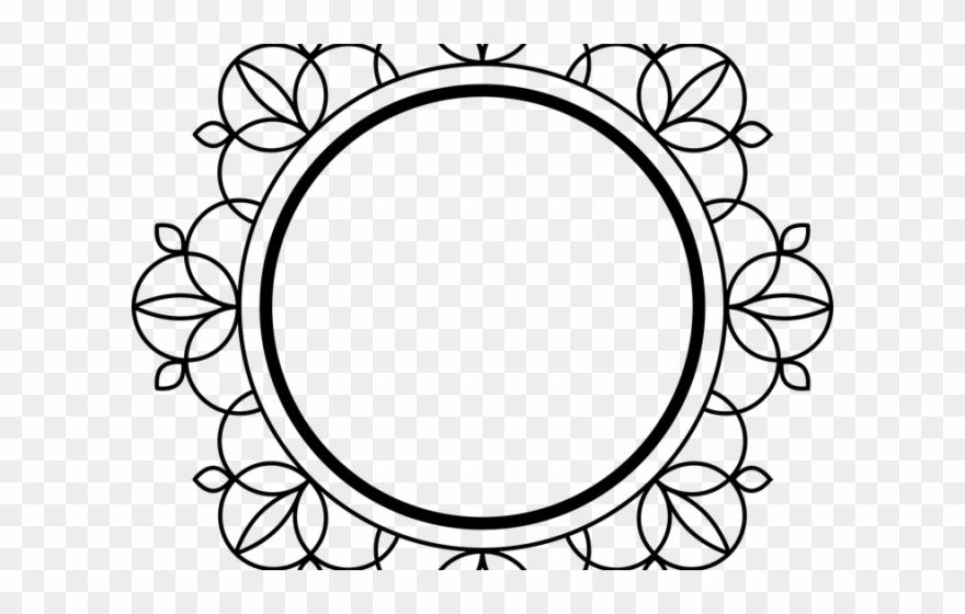 Transparent background mandala border clipart vector black and white download Decorative Border Clipart Art Deco - Mandala Circle Border ... vector black and white download