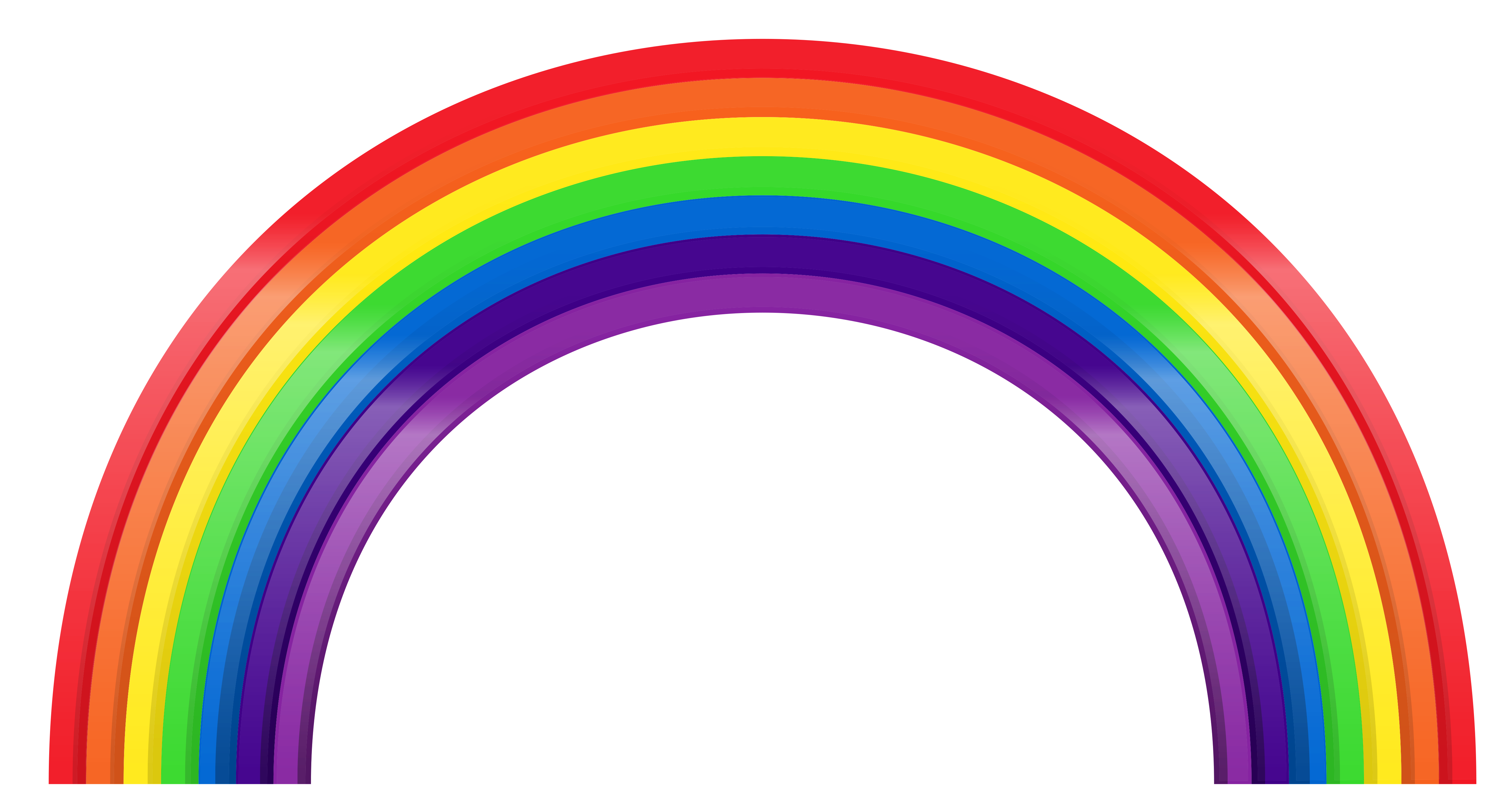 Library of transparent background rainbow clipart ...