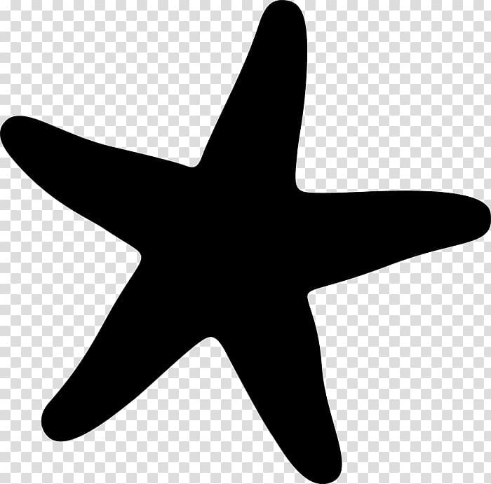 Transparent background silhouette starfish clipart image library library Starfish Marine invertebrates , sea star transparent ... image library library