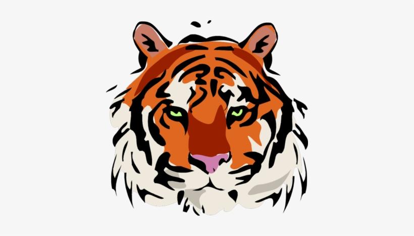 Transparent background tiger head clipart banner library Tiger Head Png - Cafepress Tiger (face) Tile Coaster ... banner library