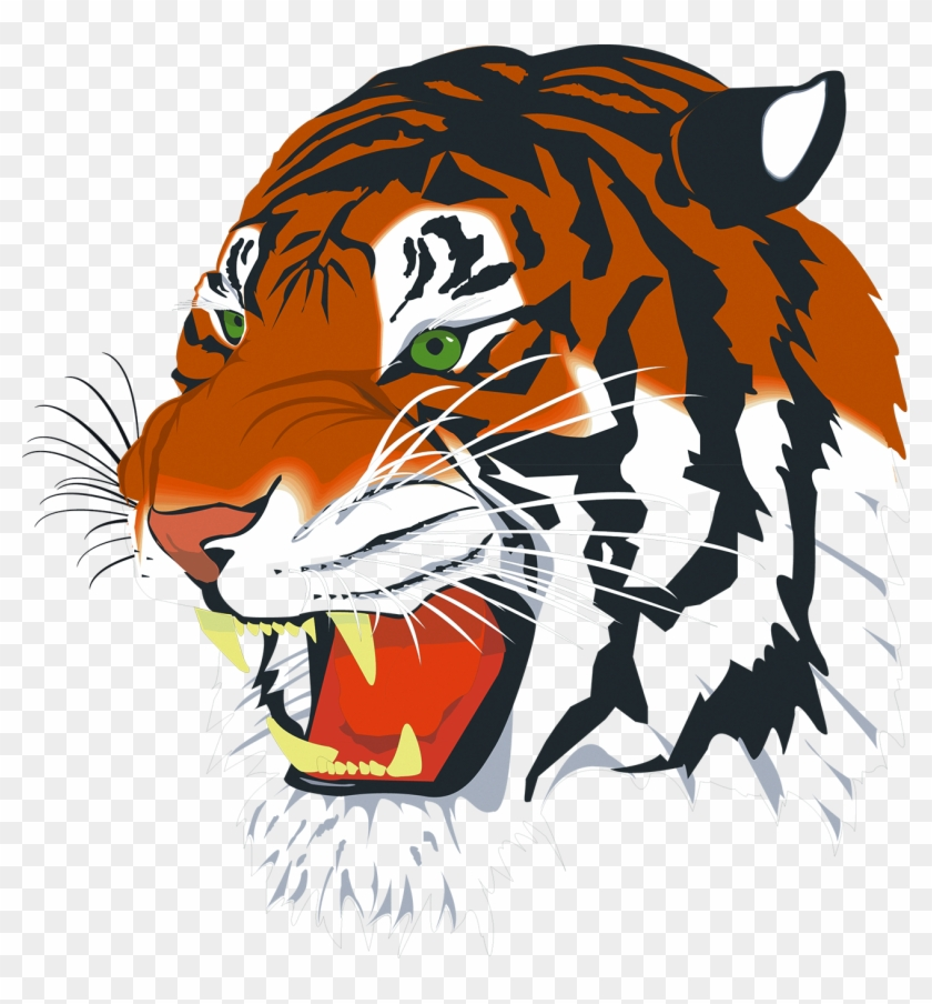 Transparent background tiger head clipart svg free library Tiger Png Vector - Tiger Head, Transparent Png - 1300x1338 ... svg free library