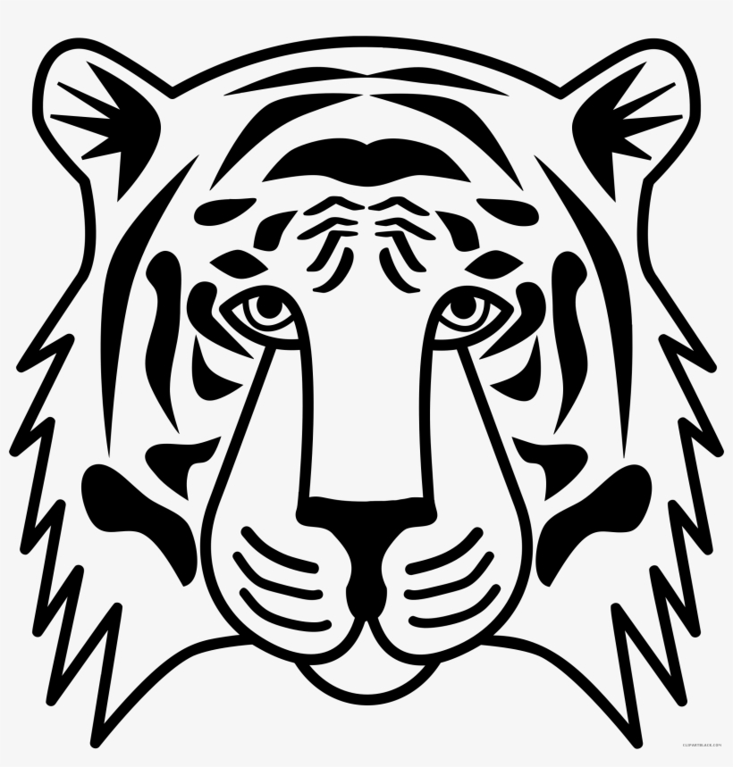 Transparent background tiger head clipart clip art library download Png Royalty Free Stock Head Black And White Encode ... clip art library download