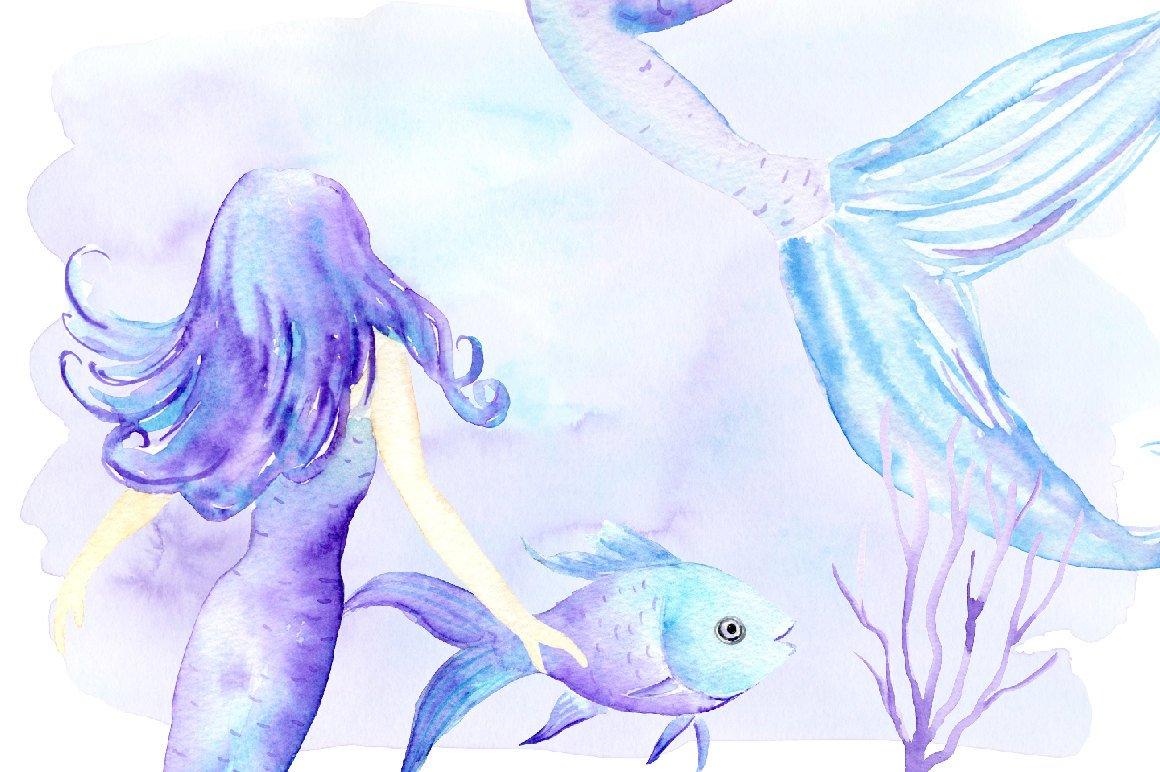 Transparent background watercolor mermaid clipart clipart library download Mermaid clip art, watercolor mermaid, mermaids, fish ... clipart library download