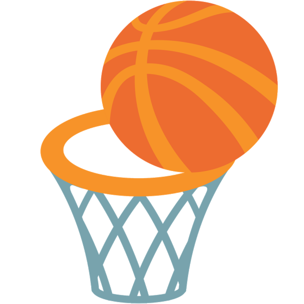 Transparent basketball sticket clipart image royalty free Emoji Basketball Android Sticker Telegram - basketball 1024*1024 ... image royalty free