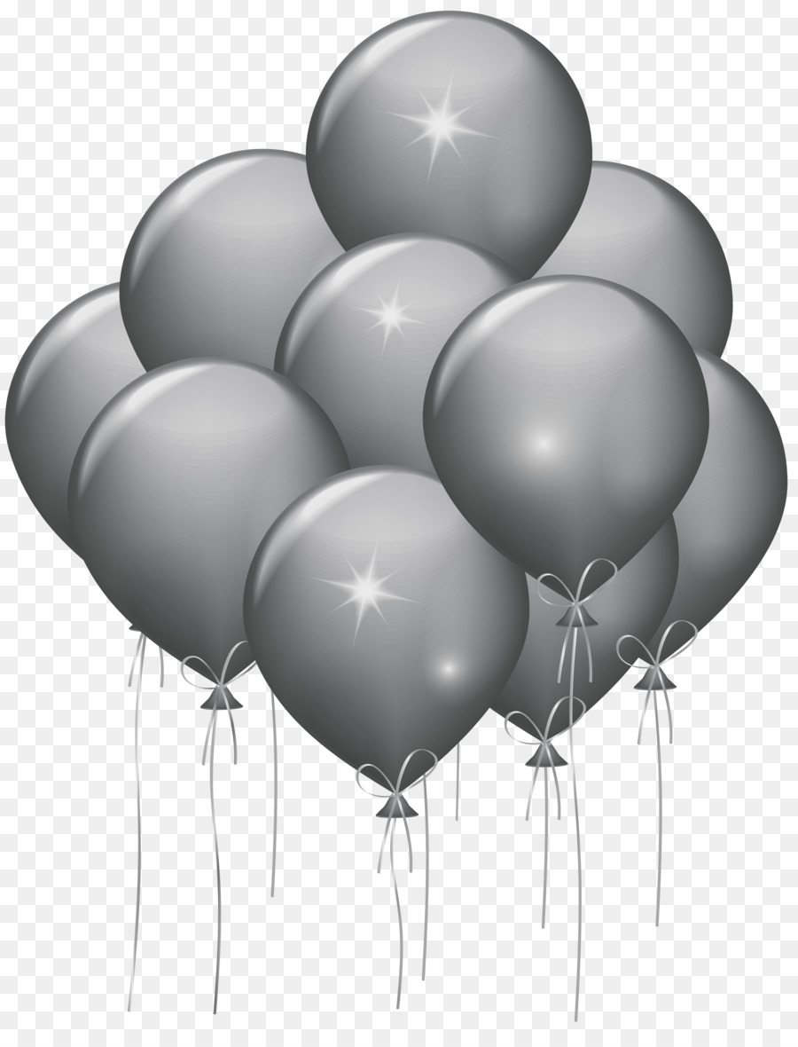 Transparent birthday black balloon clipart vector free Balloon Black And White png download - 6190*8000 - Free ... vector free