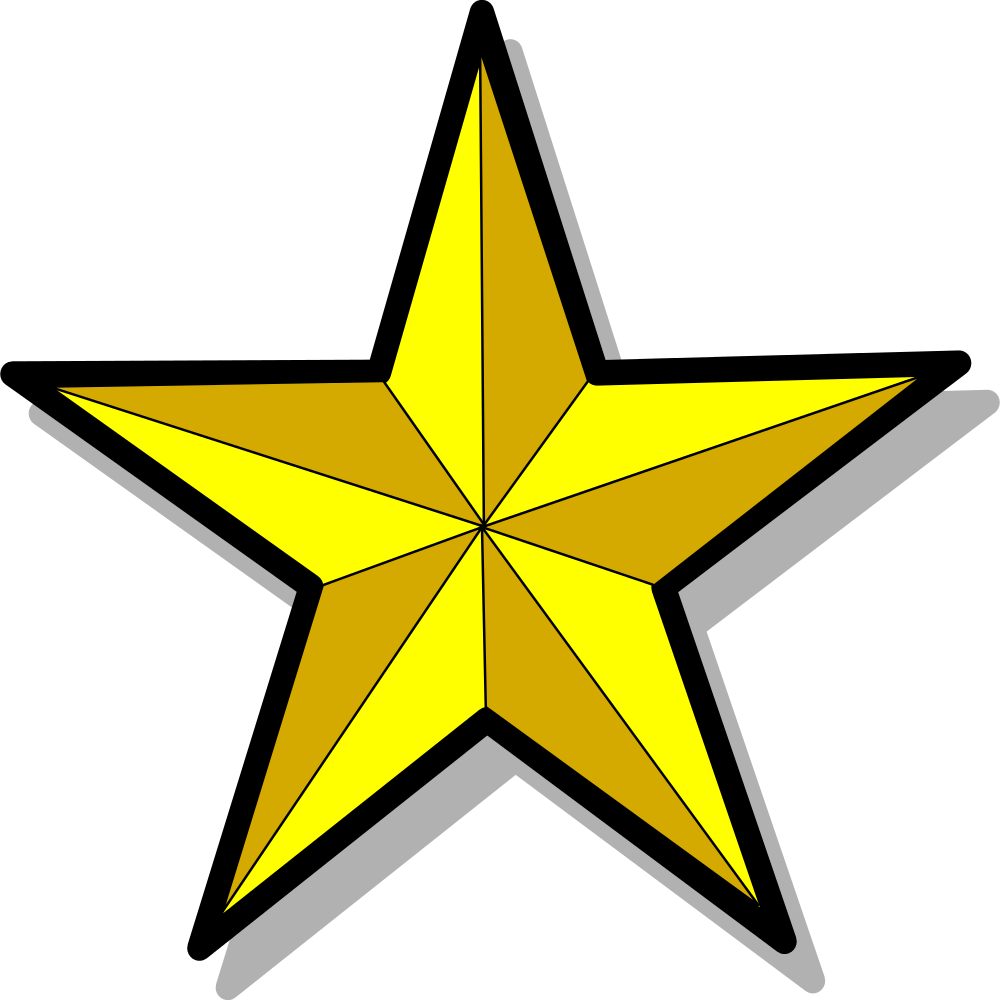Transparent black and gold star clipart clipart royalty free File:Icône étoile d'or à cinq branches.svg - Wikimedia Commons clipart royalty free