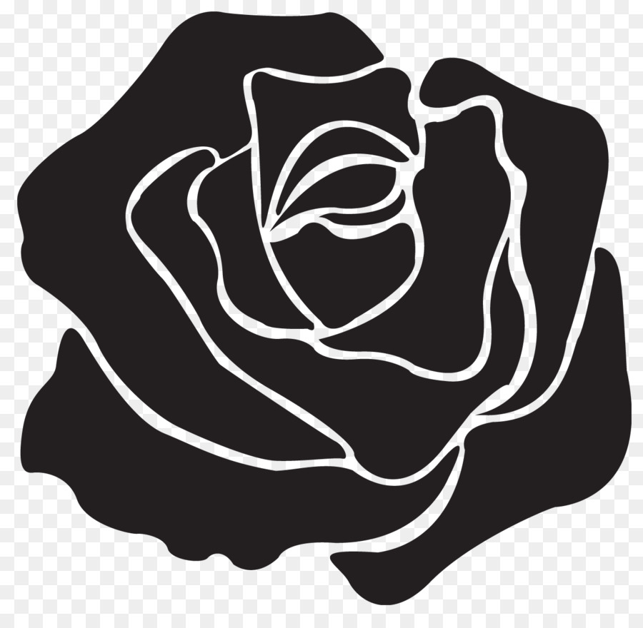 Rose Black And White clipart - Rose, Black, Plant ... picture transparent stock
