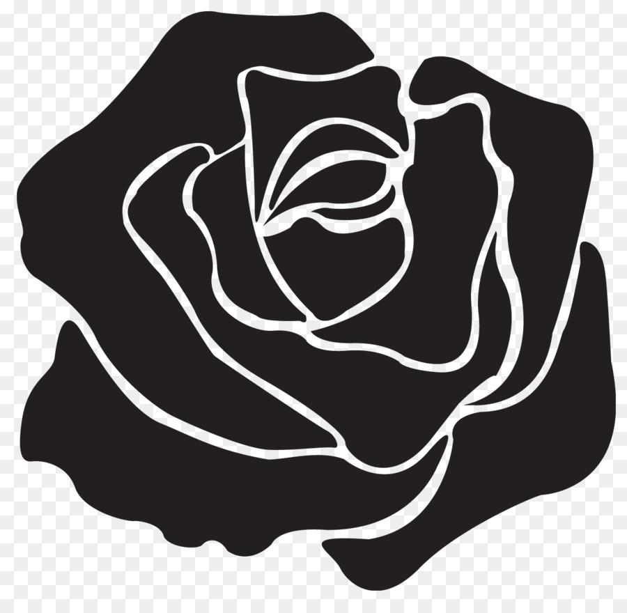 Transparent black clipart picture transparent stock Rose Black And White clipart - Rose, Black, Plant ... picture transparent stock