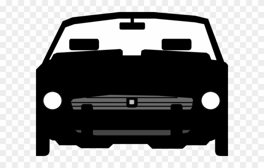 Transparent car front view clipart image black and white stock Vector Clipart Car - Car Front View Png Silhouette ... image black and white stock