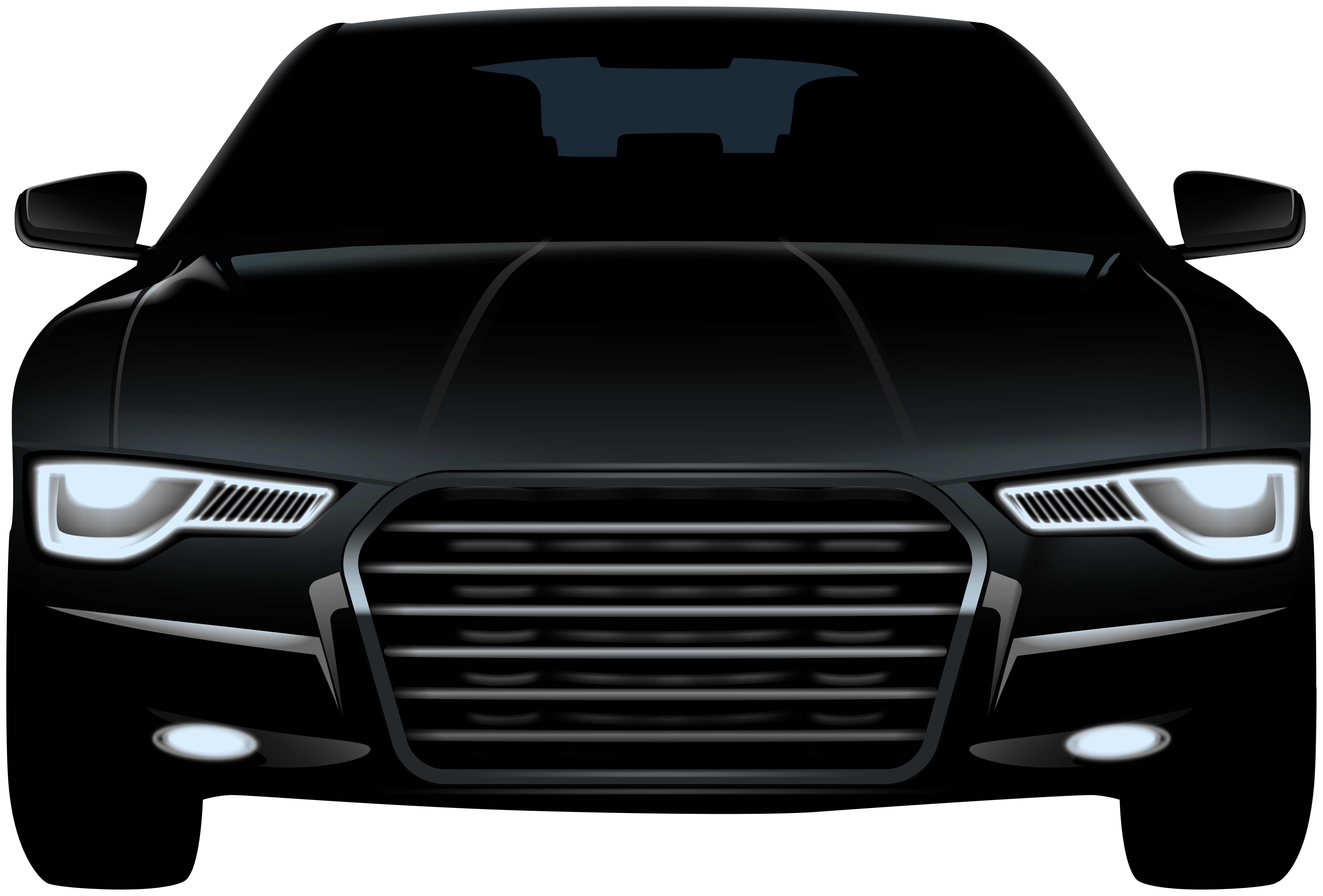 Transparent car front view clipart png library library Black Sedan Front Car PNG Clip Art - Best WEB Clipart png library library