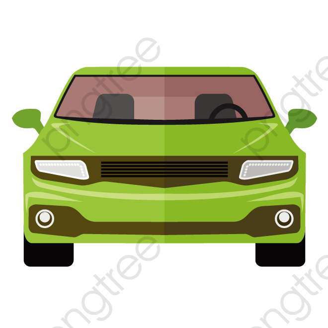 Vector Car, Car Clipart, Green Car, Car Front View PNG and ... picture download