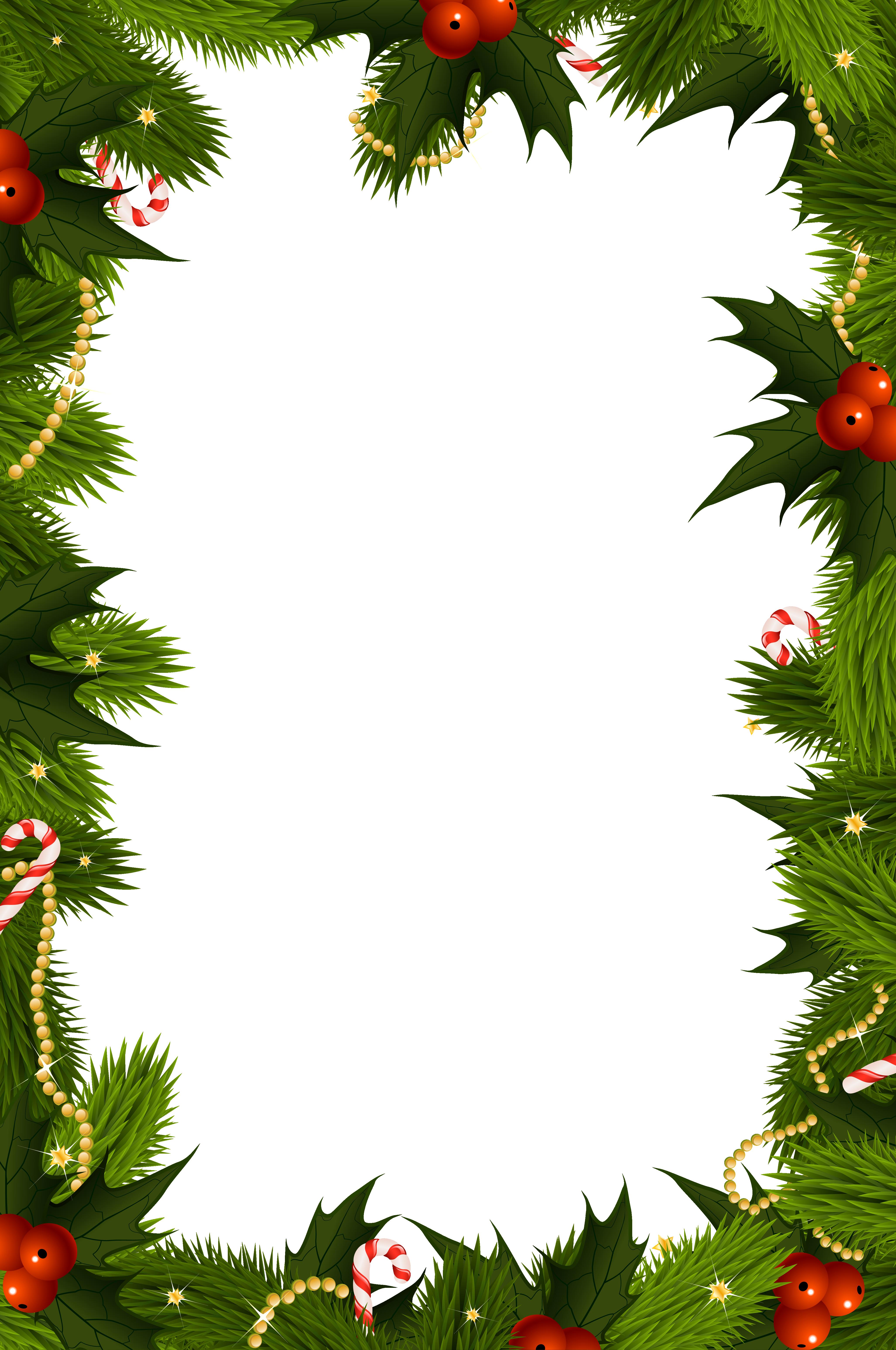 Transparent christmas border clipart clip art freeuse stock Transparent Christmas PNG Border Frame | Gallery ... clip art freeuse stock