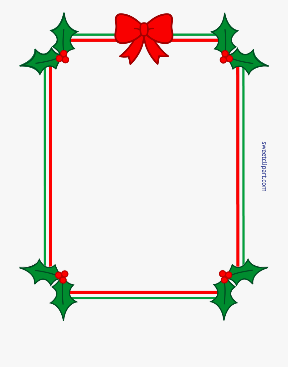 Transparent christmas border clipart png Clipart Royalty Free Download Christmas Border Frame #609473 ... png