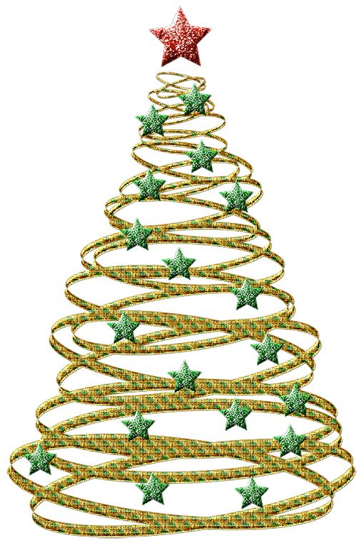 Transparent christmas clipart png banner free stock Transparent Gold Christmas Tree with Green Stars PNG Picture ... banner free stock