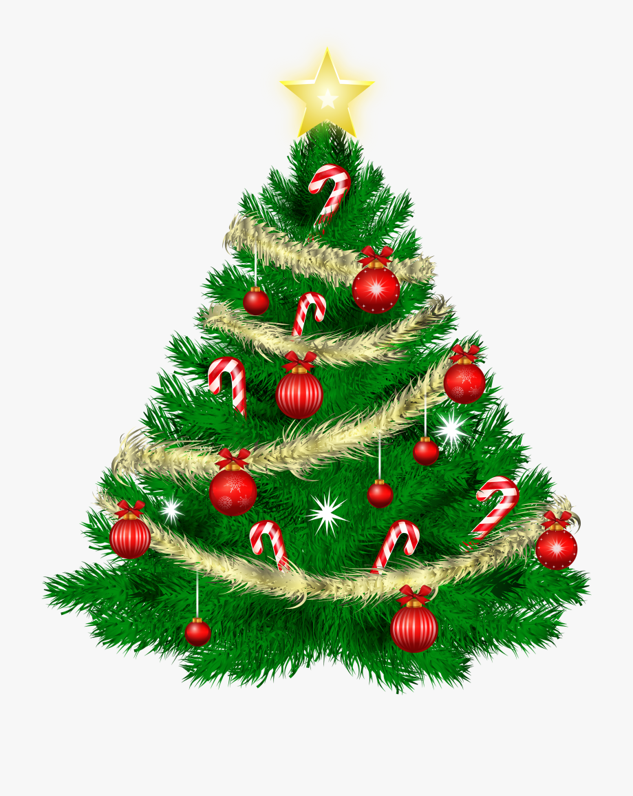 Transparent christmas tree images clipart jpg black and white Christmas Tree Clipart - Thank You For The Holiday Wishes ... jpg black and white