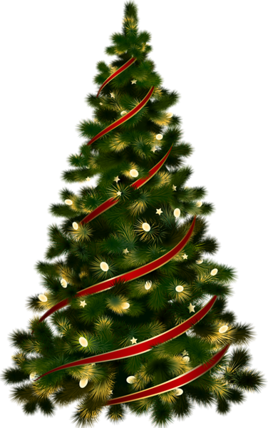 Transparent christmas tree images clipart clip free Large Transparent Christmas Tree with Red Ribbon Clipart ... clip free