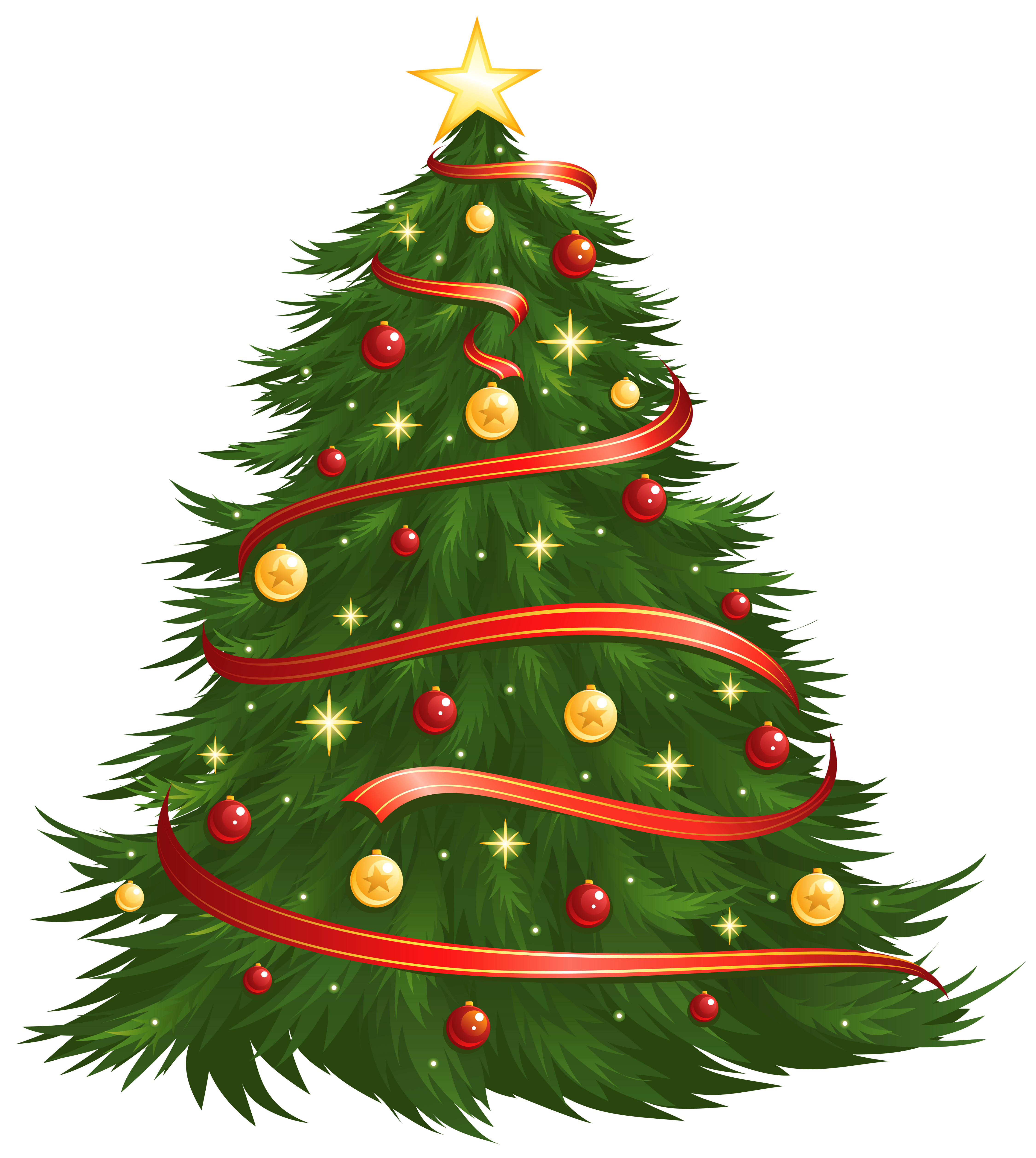 Transparent christmas tree images clipart clipart black and white download Large Size Transparent Decorated Christmas Tree PNG Clipart ... clipart black and white download