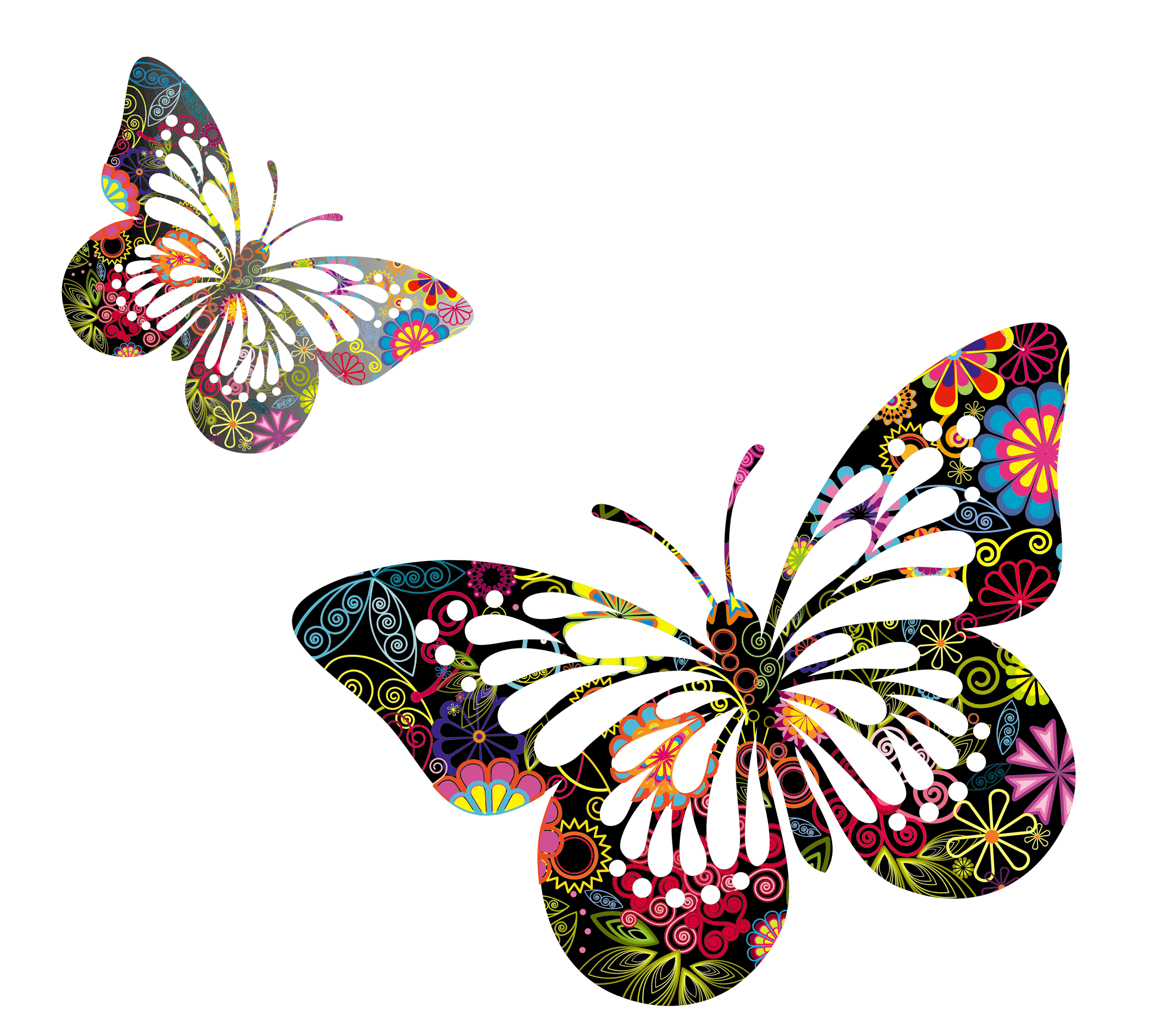 Transparent clipart butterfly on flower clip art download Transparent butterflies <3 | Png | Butterfly pictures ... clip art download