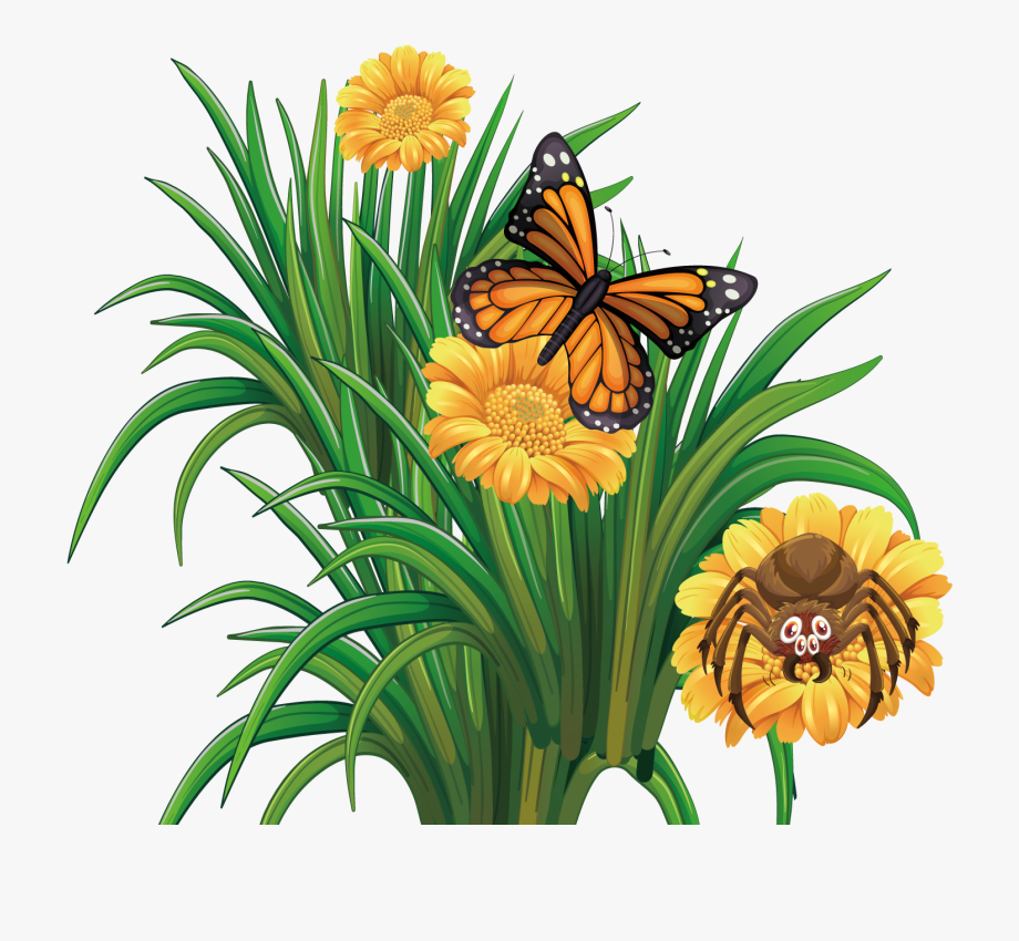 Transparent clipart butterfly on flower clip library library Monarch Butterfly Flower - Clip Art #548256 - Free Cliparts ... clip library library