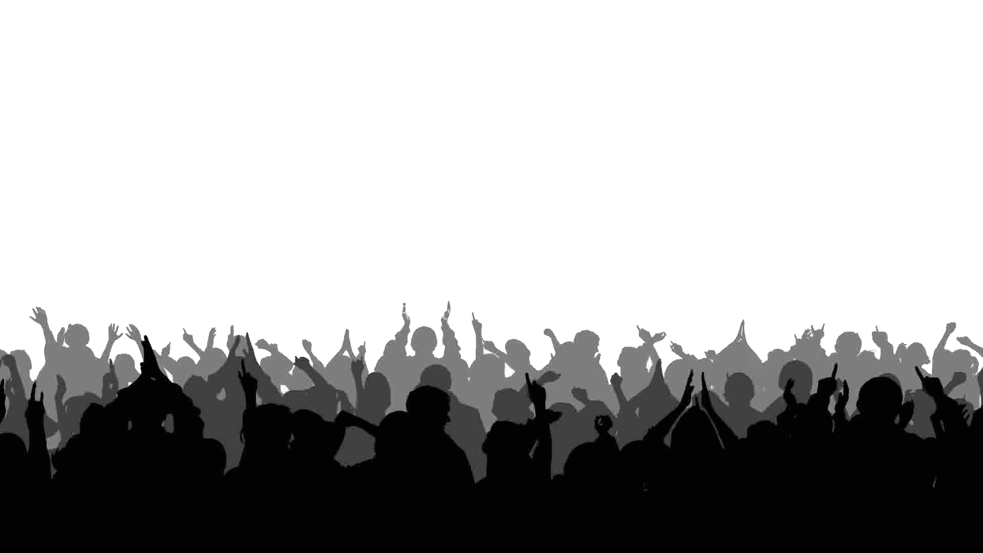 Silhouette Stock footage Crowd Clip art - crowd png download ... vector free