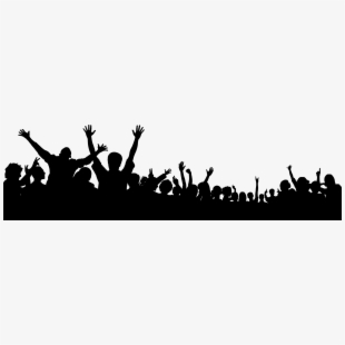 Transparent clipart crowd people cheering svg black and white stock Free Crowd Clipart Cliparts, Silhouettes, Cartoons Free ... svg black and white stock