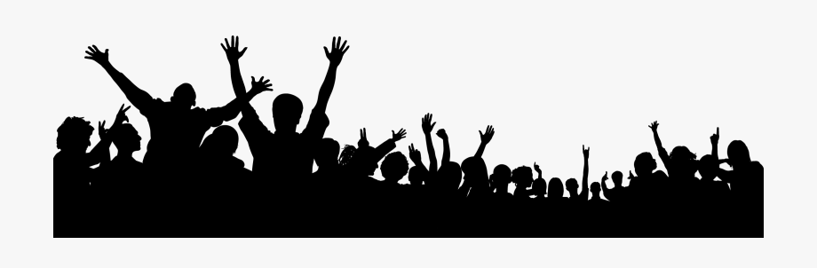 Crowd Images Free - Transparent Background Crowd Clipart ... graphic library library