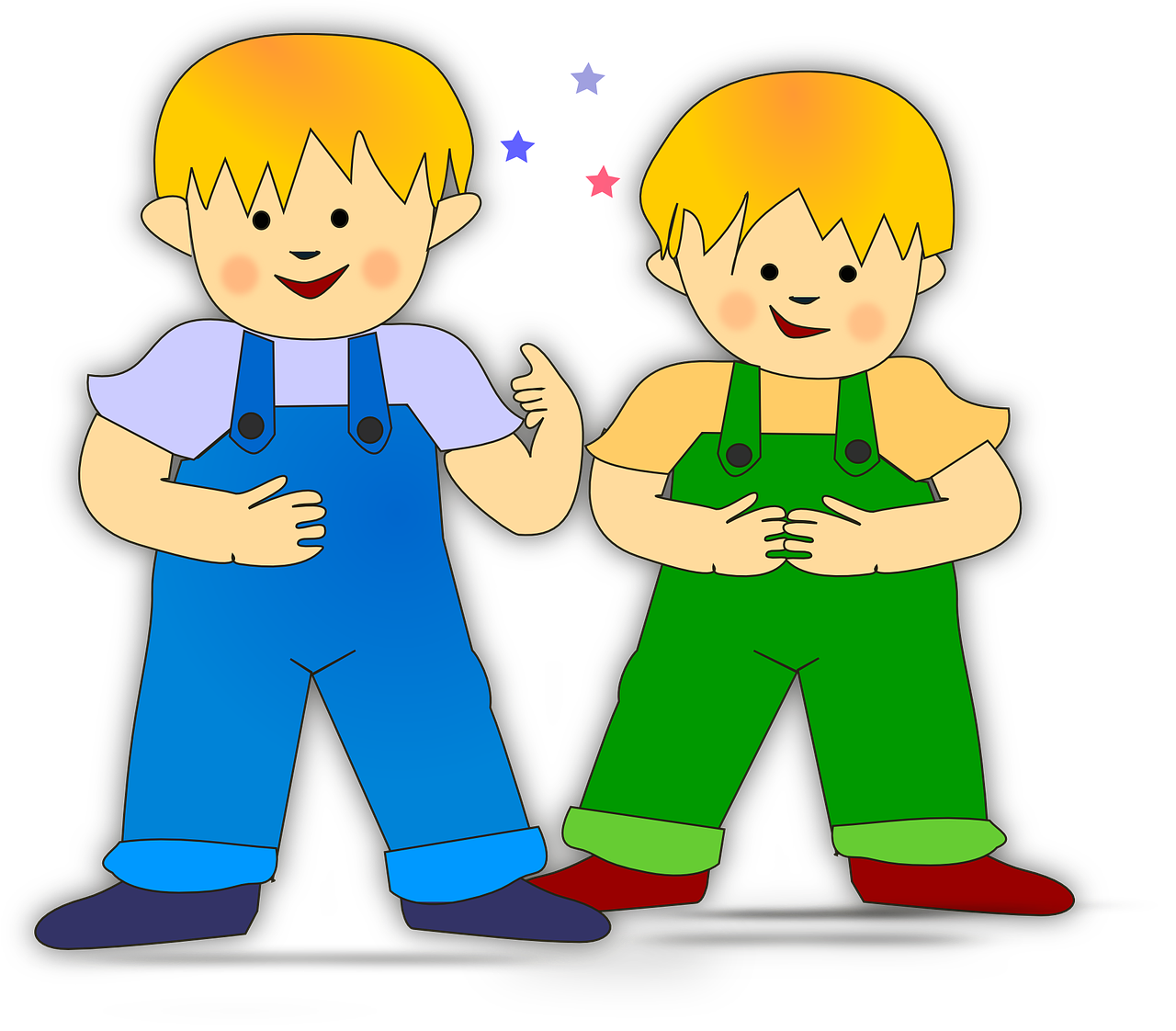 Transparent clipart for 2 children picture freeuse download Boys Brothers Kids Two Children PNG - Picpng picture freeuse download