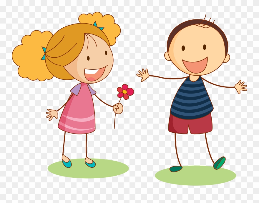 Transparent clipart for 2 children vector transparent Child Clip Art - Boy And Girl Png Transparent Png (#27864 ... vector transparent