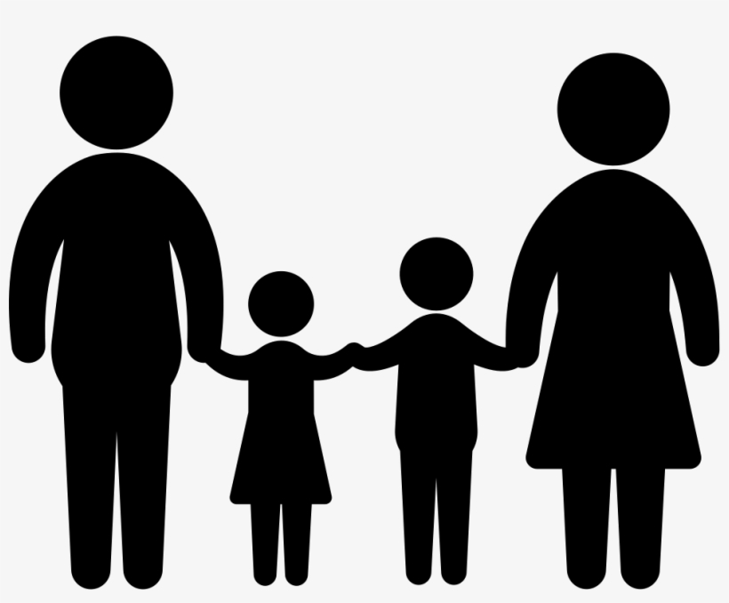 Transparent clipart for 2 children jpg black and white download Familiar Group Of Two Children Father And Mother Comments ... jpg black and white download