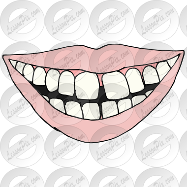 Transparent clipart gap in teeth banner free Gap Picture for Classroom / Therapy Use - Great Gap Clipart banner free