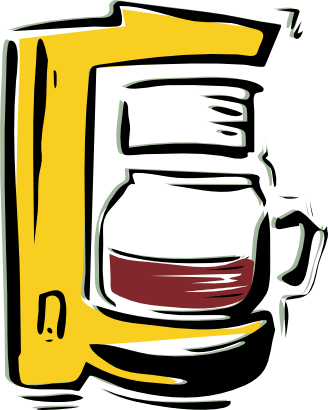 Transparent clipart maker png black and white Coffee Maker Clip Art Can | Clipartimage.c #217160 ... png black and white