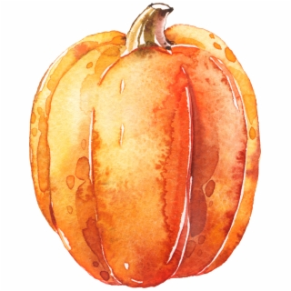 Watercolor Pumpkins Png - Watercolor Pumpkin Clipart ... graphic transparent download