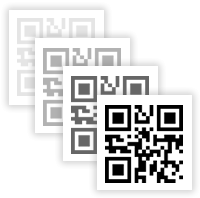 QR Code Generator clip art black and white library