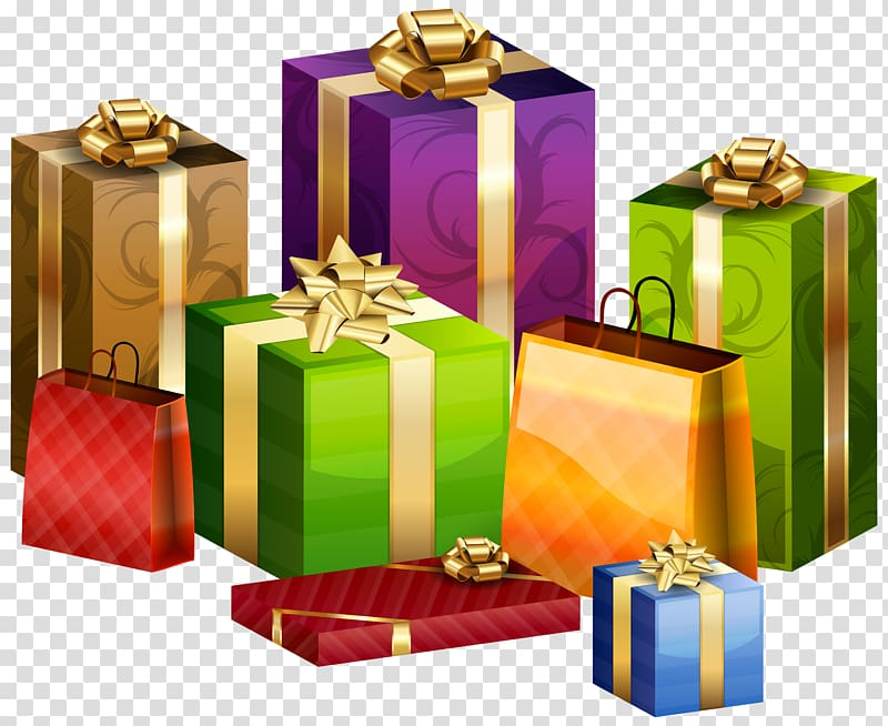Transparent clipart receive a gift clipart royalty free library Assorted-color gift boxes illustration, Gift wrapping ... clipart royalty free library