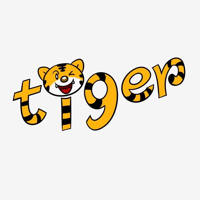 Cartoon English Alphabet Tiger Word Png Transparent Bottom ... svg freeuse stock
