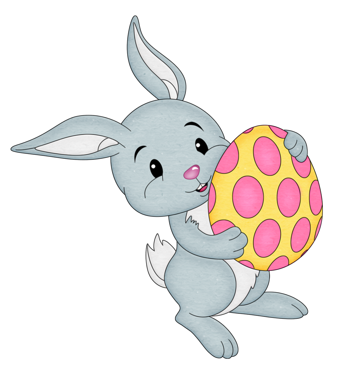 Transparent easter clipart clipart black and white Easter Bunny Clip art - Easter Bunny with Yellow Egg ... clipart black and white