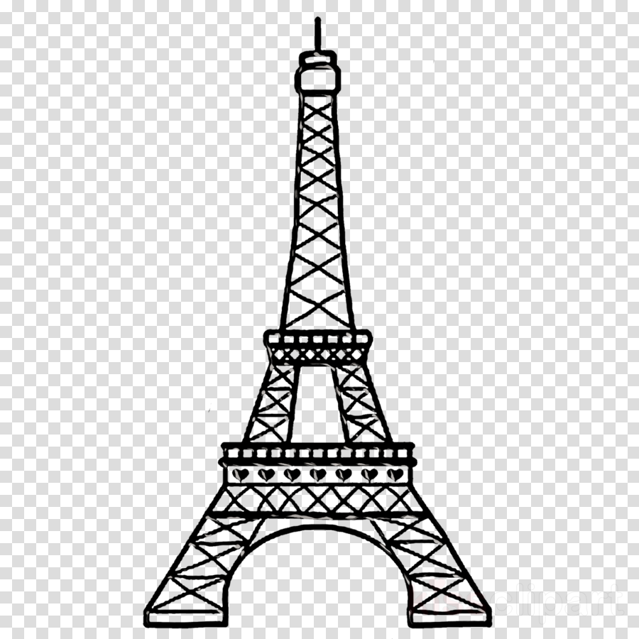 Transparent eiffel tower clipart black and white stock Eiffel Tower Drawing clipart - Drawing, Illustration, Line ... black and white stock