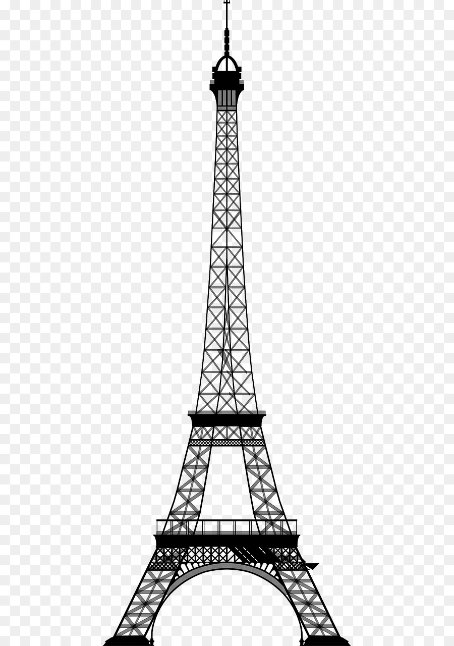 Transparent eiffel tower clipart png free download Eiffel Tower Drawing png download - 640*1280 - Free ... png free download