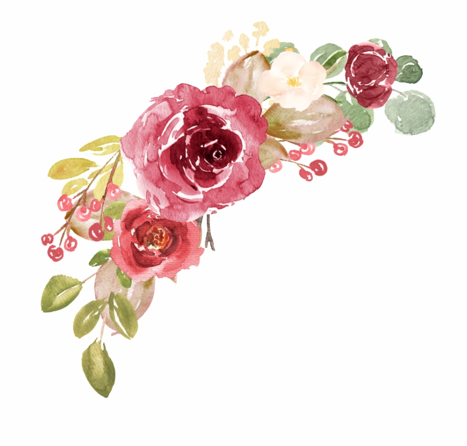 Transparent floral clipart graphic royalty free stock Hand Painted Realistic Retro Watercolor Flower Png ... graphic royalty free stock