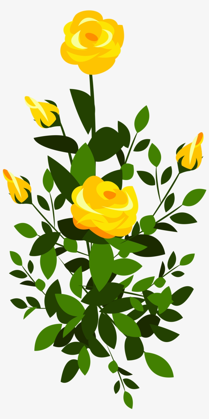 Transparent flower rose yellow clipart banner freeuse stock Yellow Rose Bush Png Clipart Image - Yellow Rose Bush Png ... banner freeuse stock