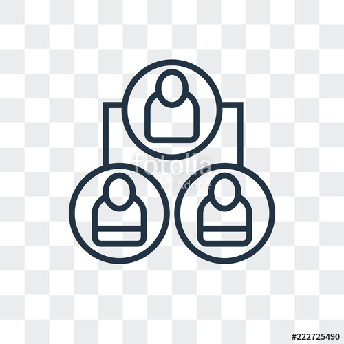 organization icon isolated on transparent background. Modern ... svg download
