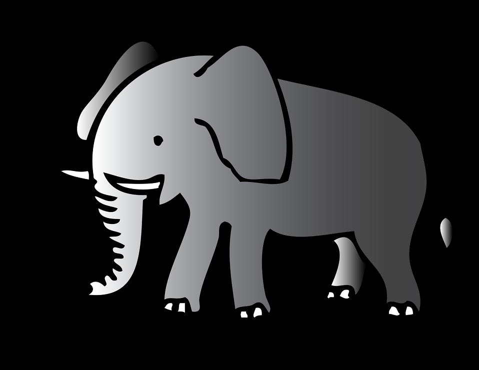 Transparent jpeg elephant clipart clipart freeuse Transparent background elephant clipart black - ClipartFest clipart freeuse
