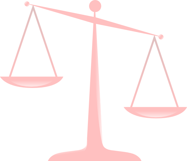 Transparent justice clipart graphic freeuse stock Transparent Scales Of Justice Clip Art at Clker.com - vector ... graphic freeuse stock