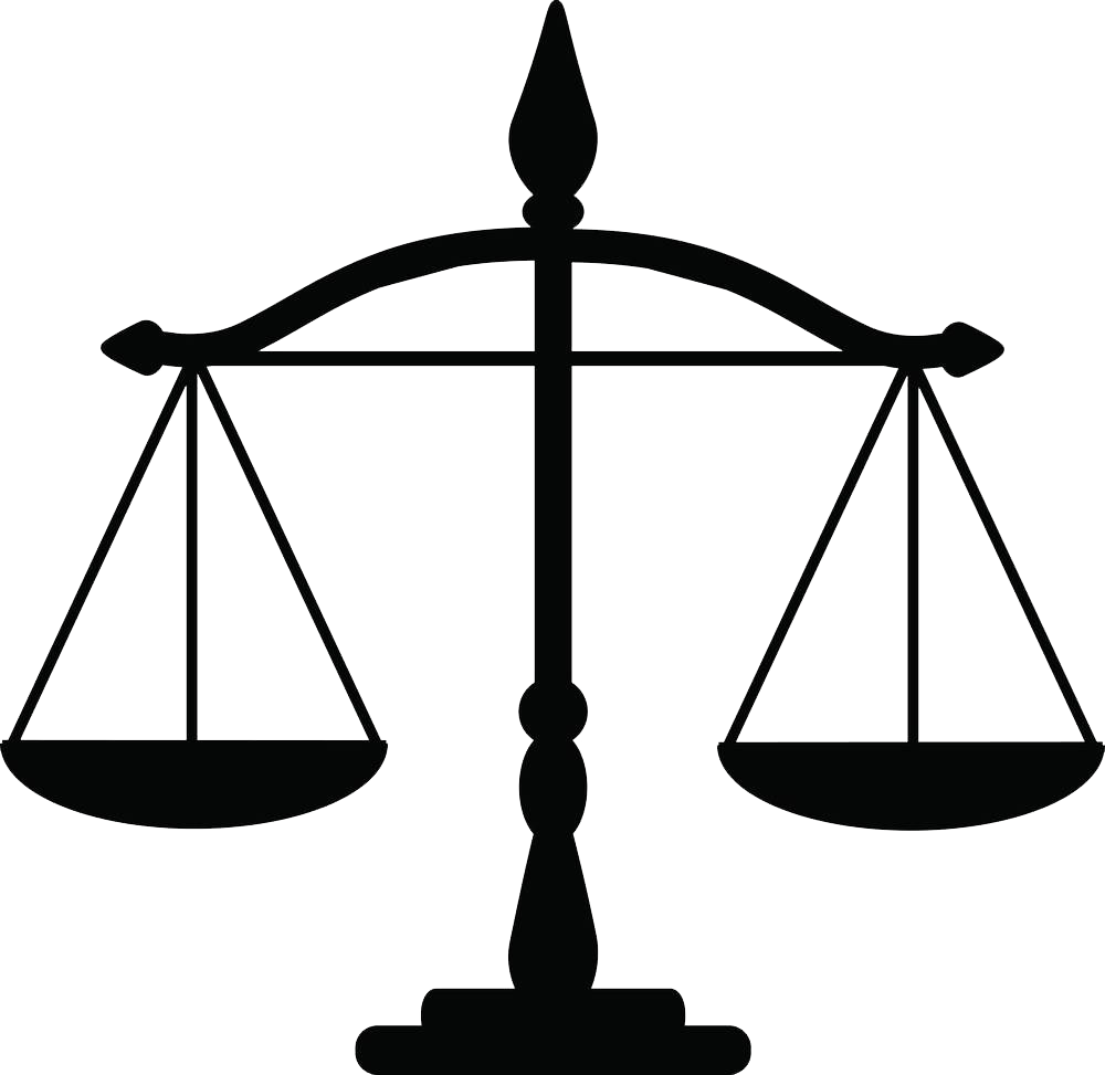 Transparent justice clipart banner library library Justice Weighing scale Law Clip art - Black flat balance ... banner library library