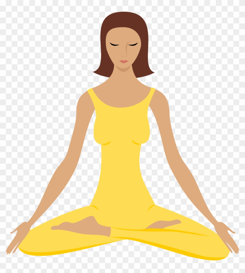 Transparent meditation clipart svg library stock Yoga Png - Clip Art Meditation, Transparent Png - 676x720 ... svg library stock