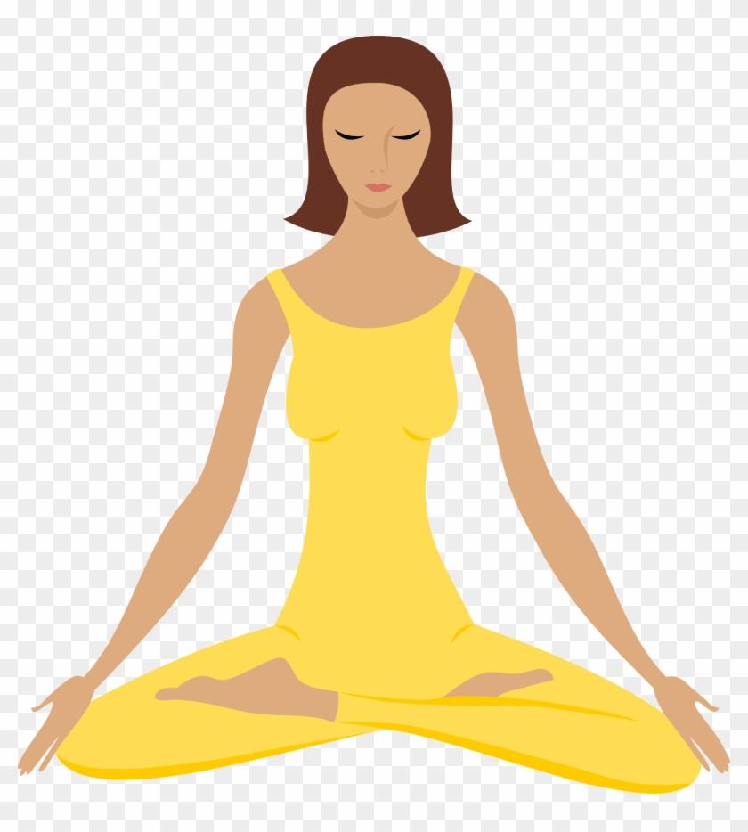 Transparent meditation clipart svg library stock Yoga Png - Clip Art Meditation, Transparent Png - 676x720 ... svg library stock
