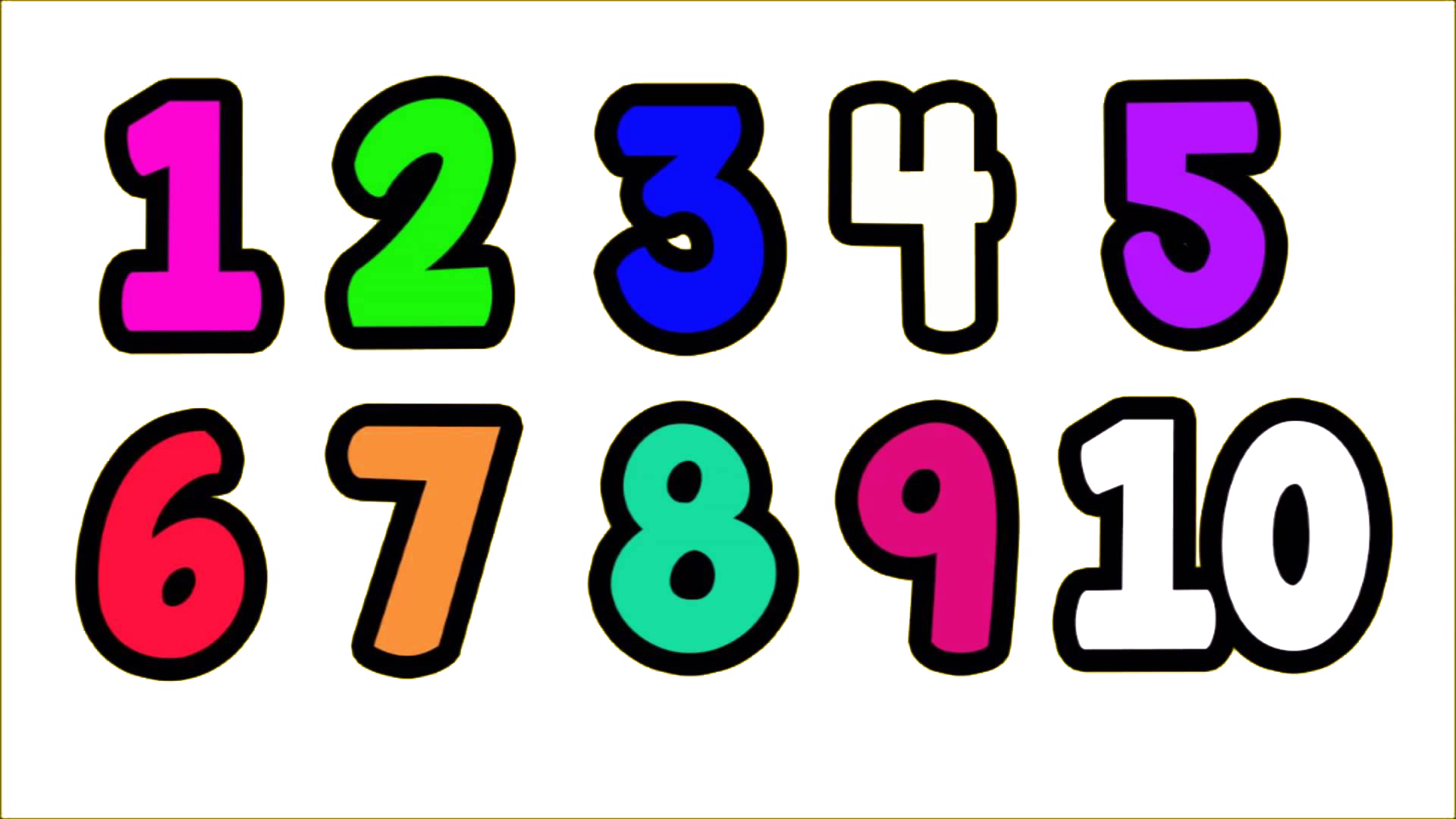 Transparent numbers clipart black and white library 1 to 10 Numbers PNG Transparent Images | PNG All black and white library