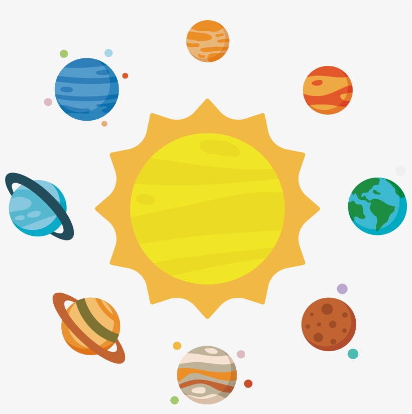 Transparent planet clipart svg black and white stock Solar System Planet Clip Art - Solar System Planets Clipart ... svg black and white stock