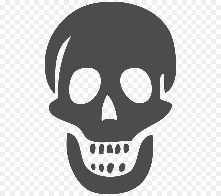 Transparent skull clipart vector royalty free library Human Skull Drawing png download - 800*800 - Free ... vector royalty free library